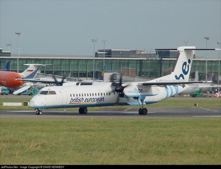 De Havilland Canada DHC-8-402Q Dash 8, Flybe, G-JEDK, cn 4065, 78 passengers, first flight 3/2002, Flybe delivered 23.4.2002, next Jambojet (delivered 14.11.2014), active. Foto: Dublin, Ireland, 28.10.2002.