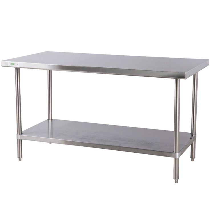 "Regency 30"" x 72"" 16-Gauge 304 Stainless Steel Commercial Work Table with Undershelf"
