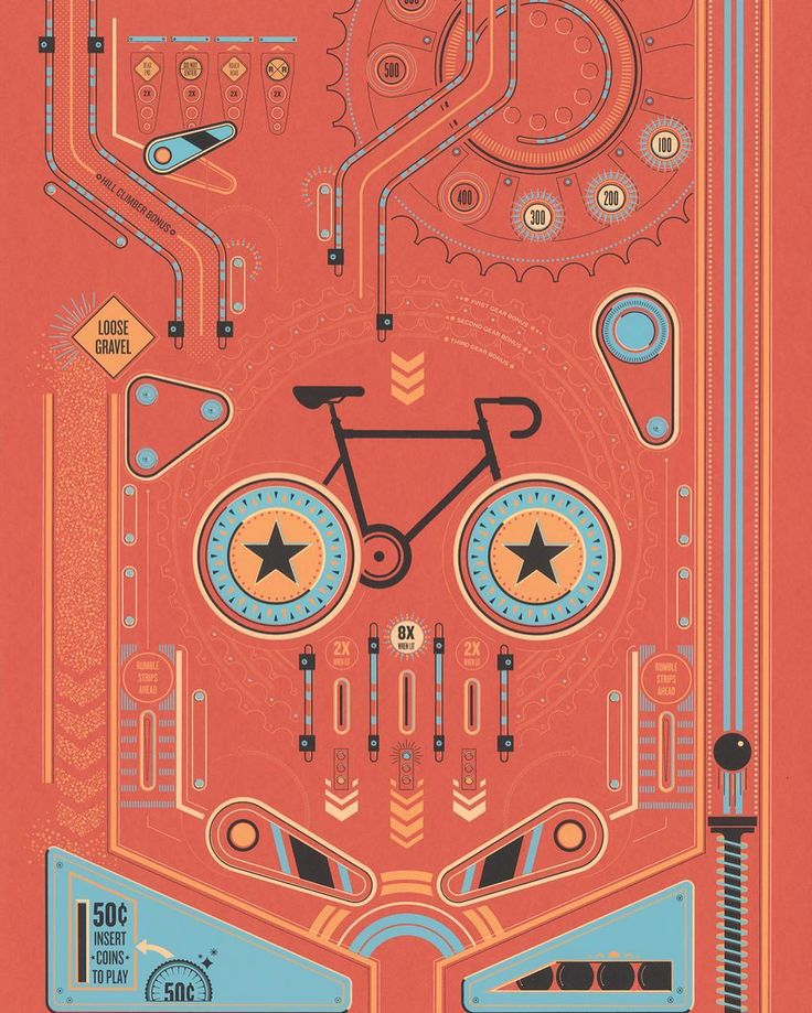 Cycling Pinball by Ellen Schofield | @ellen.schofield Get your limited edition…