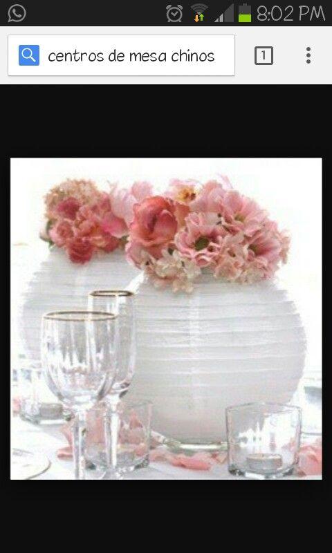 Centros de mesa con globos chinos boda ideas pinterest mesas