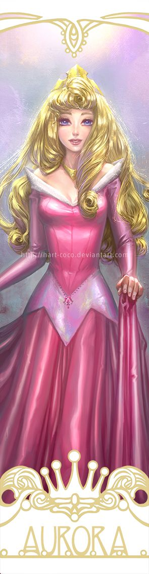 Disney Princesses Bookmarks: Sleeping Beauty by hart-coco.deviantart.com on @deviantART - Seventh in a series