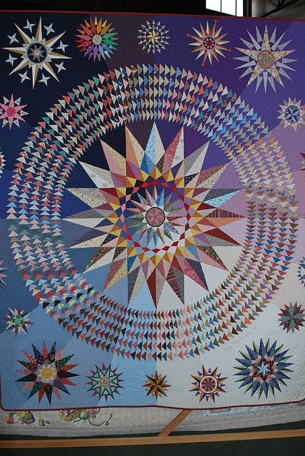 Judy Mathieson, Nautical Stars, 1986   I saw this quilt 'live' at Quilt National in Athens.  Amazing.