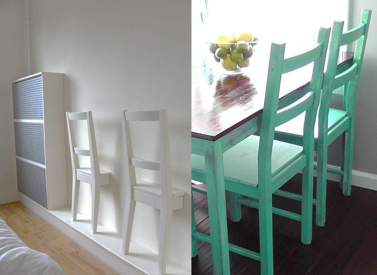 Diy personnaliser la chaise ivar ikea lieux blog et design - Customiser une chaise ...