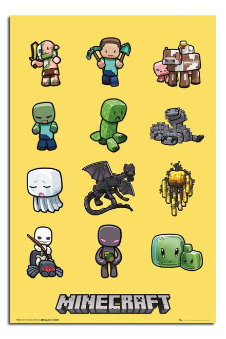Minecraft Characters Large Official Wall Poster New - Laminated Available   eBay