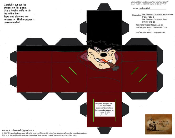 Ghost of Christmas Yet to Come Paper Toy | Free Printable Papercraft Templates | Paper toys ...
