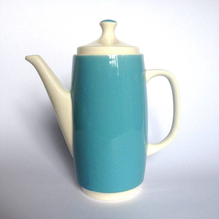 Dzbanek kawowy Gudrun, NRD, Torgau | Gudrun coffee jug, NRD, Torgau | buy on Patyna.pl  #Torgau #Germany #NRD #Gudrun #blue #coffee #jug #ceramics #faience #design #retro #German #vintage #vintagefinds #inspiration #kitchen #rzeczyStefana