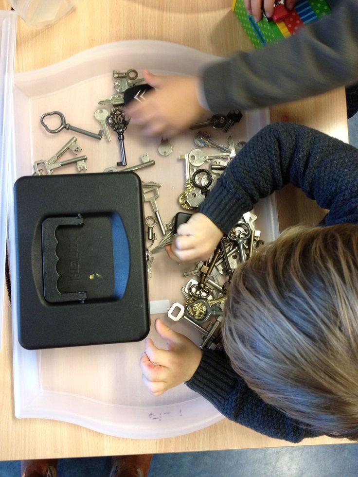 Dozen opdoen met sleutels