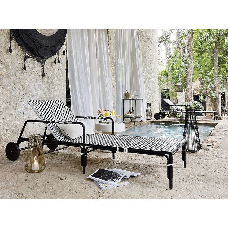 Best 25 industrial outdoor chaise lounges ideas on for Black metal chaise lounge outdoor