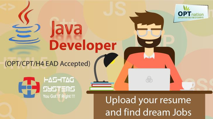 Java Developer(#OPT\/CPT\/ EAD Accepted) #jobs #optnation - how to upload a resume