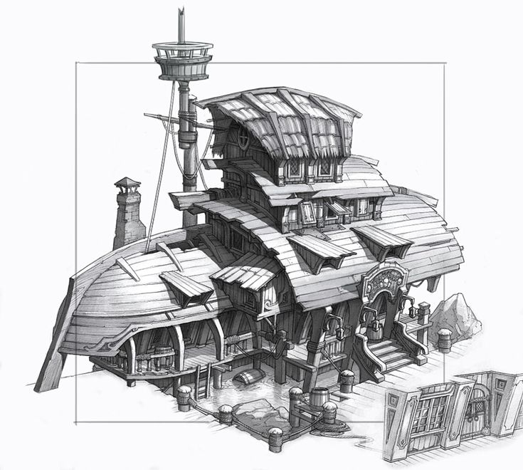 92 best images about fantasy architecture on pinterest for 2d building drawing