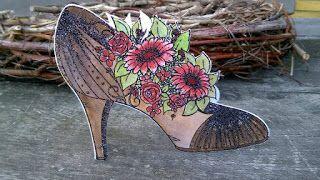 Scrapbook Funs blog: Højhælet sko kort