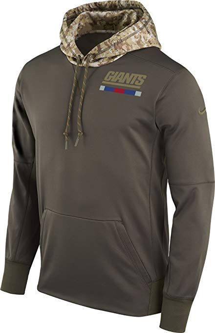 Nike New York Giants Salute to Service Sideline Therma Pullover Hoodie  (Green 8e72d0a90