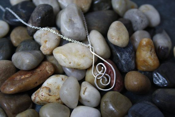 Silver Spiral Pendant on Silver Chain on Etsy, $23.00 CAD