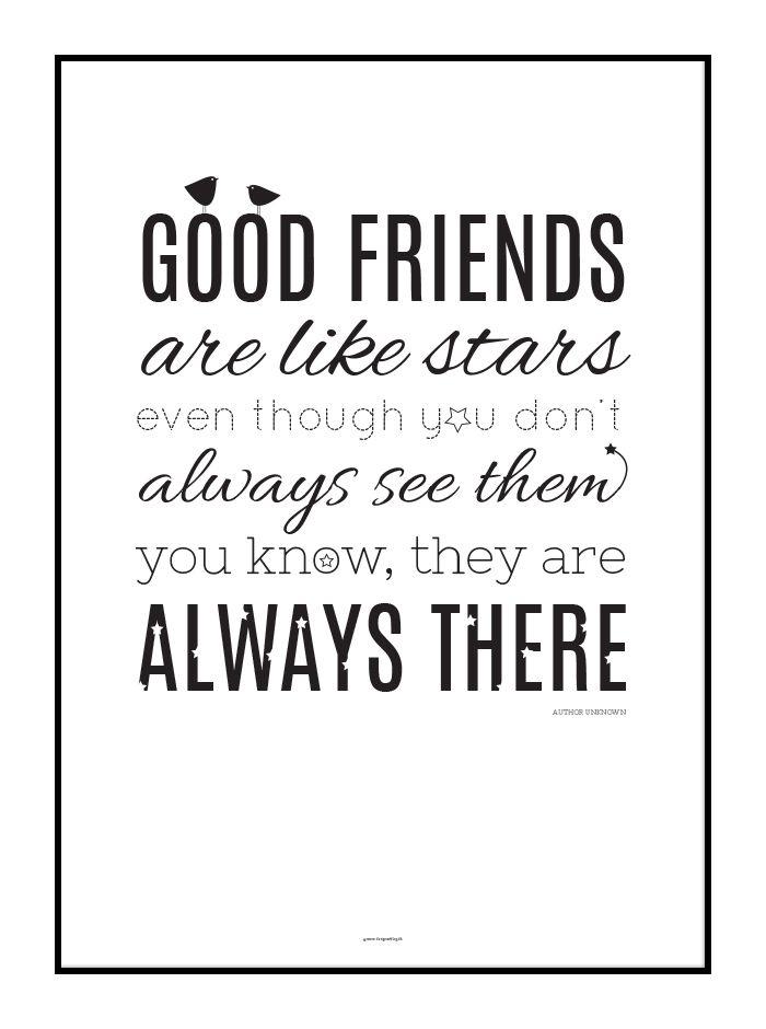 venskabs citater engelsk Plakat // Citat // Good Friends | designerblog.dk // © Tine  venskabs citater engelsk