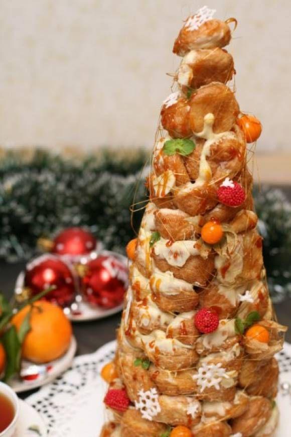 новогодний торт «Крокембуш»