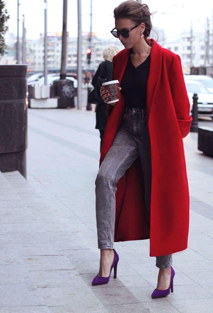 Женское длинное пальто (130 фото): с чем носить пальто в пол, обувь и перчатки под пальто, модные образы 2017, с кедами, с поясом
