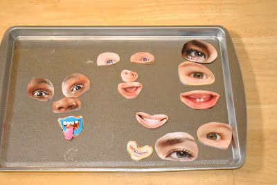 Making magnet faces from magazine cut outs