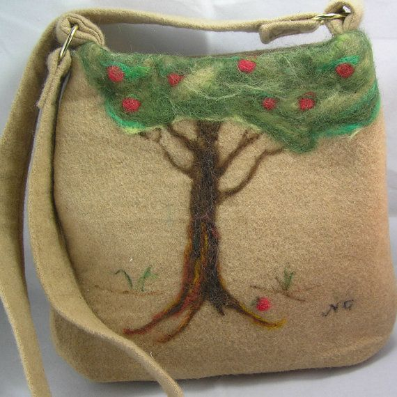 NeedleFelted Camel Hair Shoulder Bag: Shoulder Bags, Needlefelted Camel, Unavailable Listing, Tote Bags