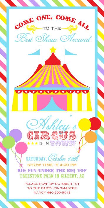 509 Best Circus + Carnival Party Theme Images On Pinterest
