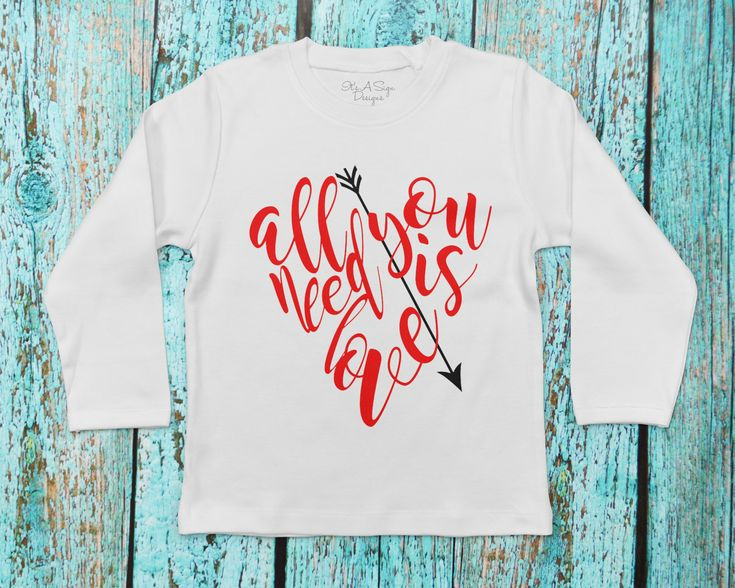 All You Need is Love, Kids Valentine Shirt, Girl Valentine Shirt, Boy Valentine Shirt, Baby Valentine Shirt, Girls Love Shirt, Valentine Tee by ItsASignDesignsbyJen on Etsy