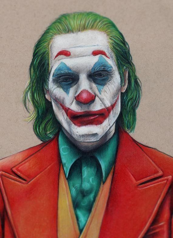 Joker Joaquin Phoenix 2019 Illustrated Giclee Print Etsy In 2020 Joker Painting Joker Drawings Joker Sketch
