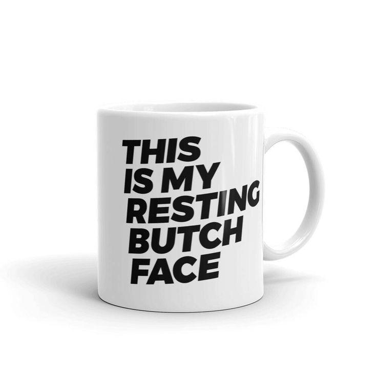 Butch Mug   Butch Coffee Cup   Butch Coffee Mug   Lesbian Mug   Lesbian Coffee Cup   Lesbian Coffee Mug   Butch Pride   Lesbian Pride by FreshAFShop on Etsy https://www.etsy.com/listing/561697577/butch-mug-butch-coffee-cup-butch-coffee