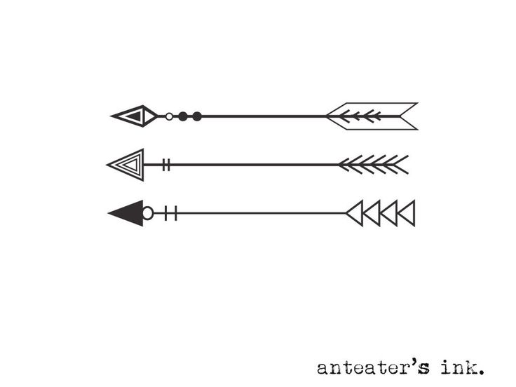 Temporary Three Arrows Tattoo Design                                                                                                                                                                                 More