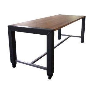 Hoge verrijdbare bartafel, tafel, tafel onderstel chroom inklapbaar, horecagelegenheid, terrasmeubilair, hoge bartafel, hoge verrijdbare bartafel Alkmaar
