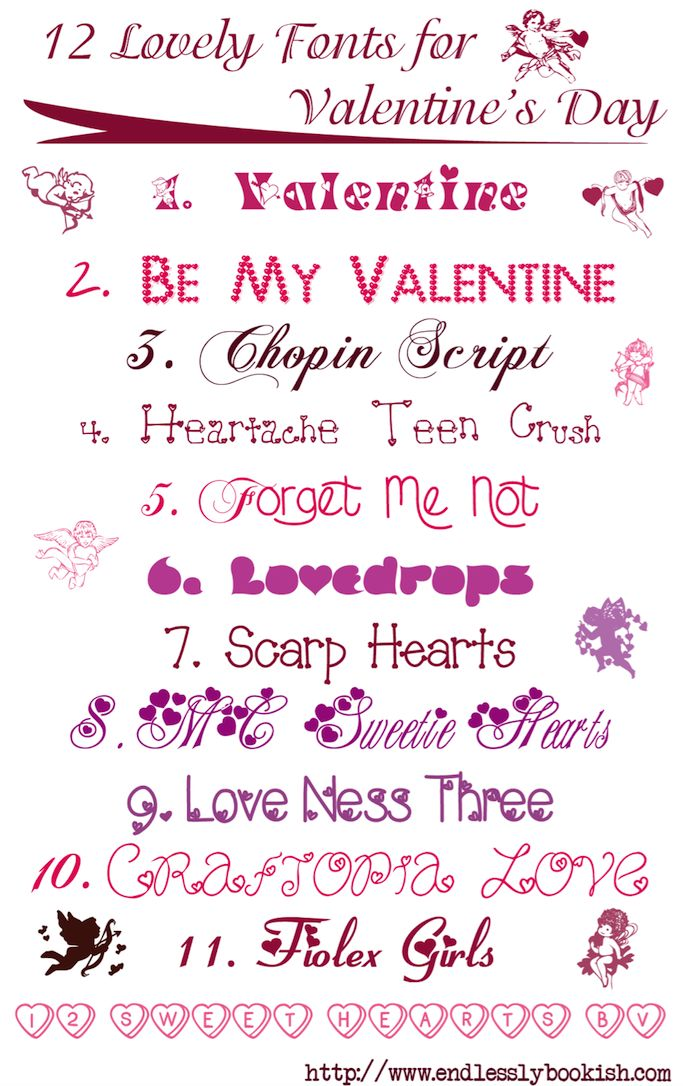 Lovely fonts for valentine s day free w