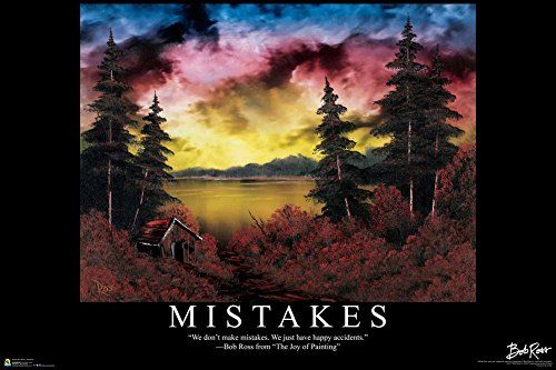 Bob Ross - Mistakes Quote Poster by Bob Ross 36 x 24in BobRoss