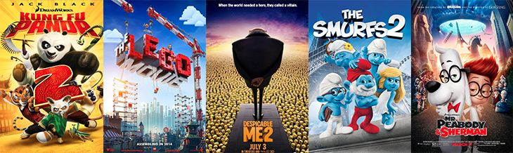 2014 Summer Movie Express | Dollar Summer Movies| Regal Cinemas - List of kid movies playing for $1 this summer.