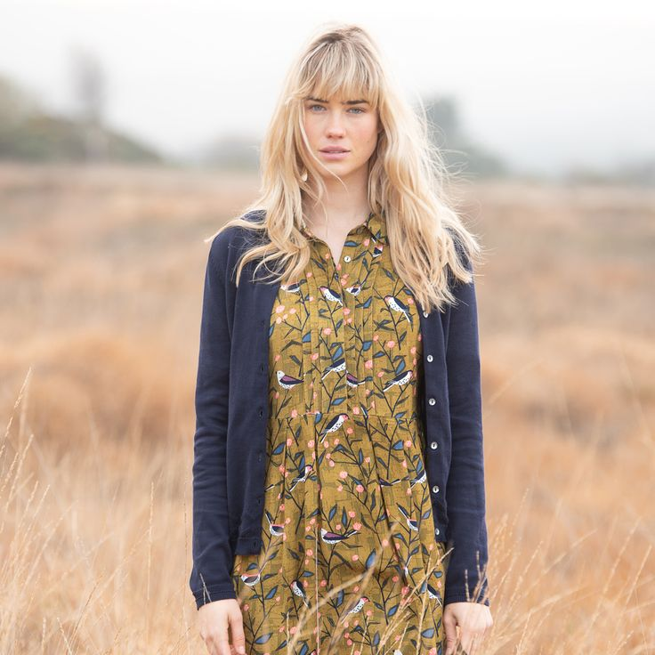 Brakeburn Bird Song Shirt Dress   Perfect for comfortable day to evening style in our hand drawn Bird Song pattern. RRP £39.99