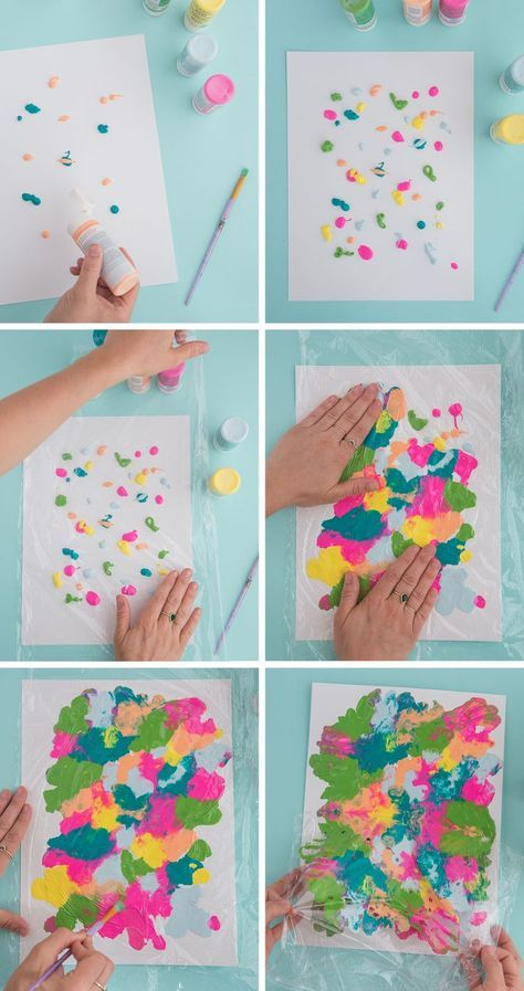 Smushed Paint Art Project for Kids