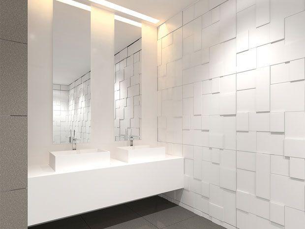 25 beste idee n over witte tegels in de badkamers op pinterest familie badkamer moza ek - Badkamer tegelmat wit ...