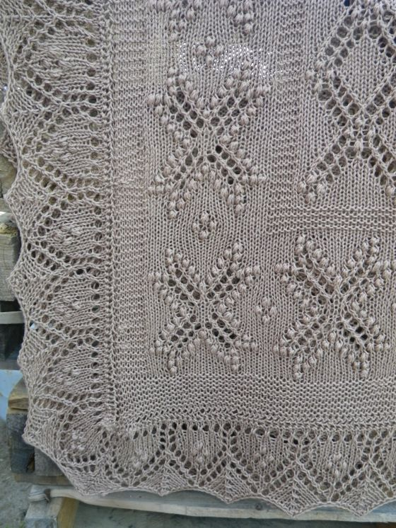 knitted lace baby blanklet