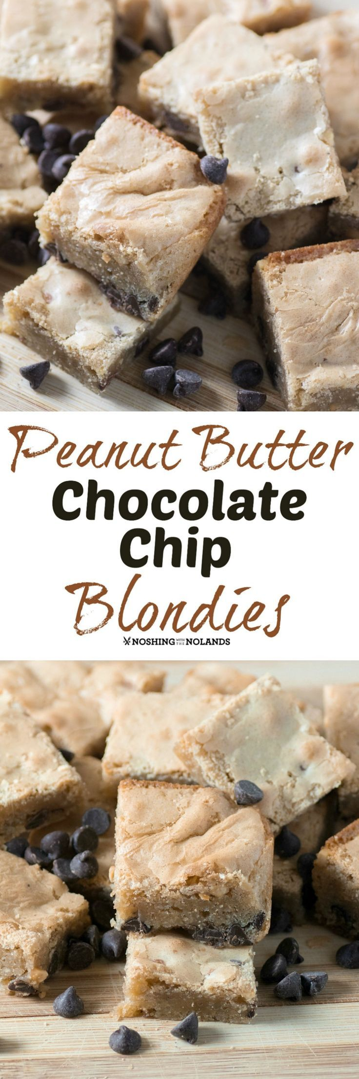 Peanut Butter Chocolate Chip Blondies | Recipe