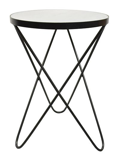 Black/White Marble Astrid Side Table, in Multiple Colours only at Complete Pad ®