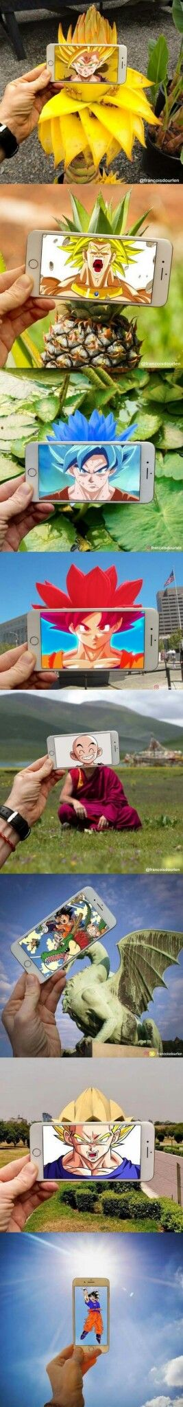 Dragon ball Z phone. Photos and real people