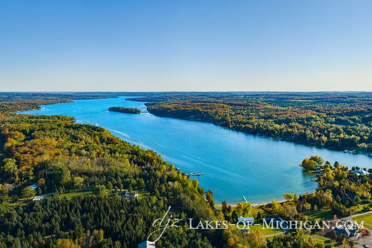 Lake charlevoix south arm from north in 2020 boyne city