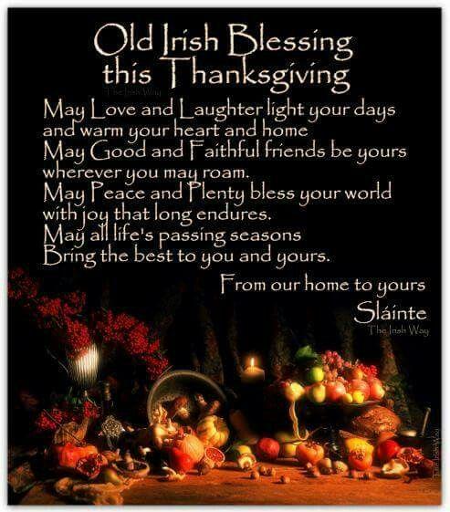 Irish thanksgiving blessing
