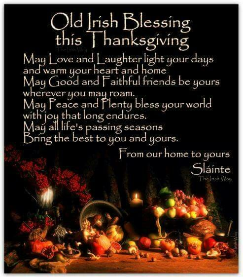Irish thanksgiving blessing