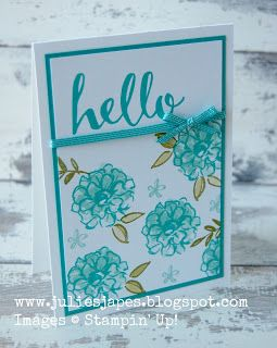 We're loving this bright, happy card featuring the What I Love and Hello Sale-A-Bration stamp sets!