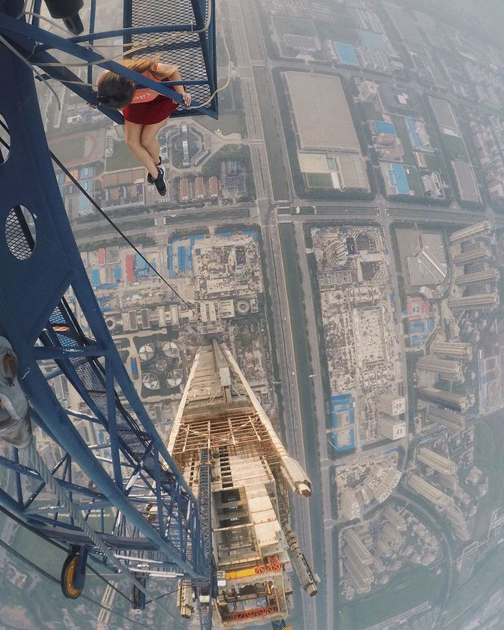 Meet Angela Nikolau - a Russian self-taught photographer who takes the most dangerous selfies ever.