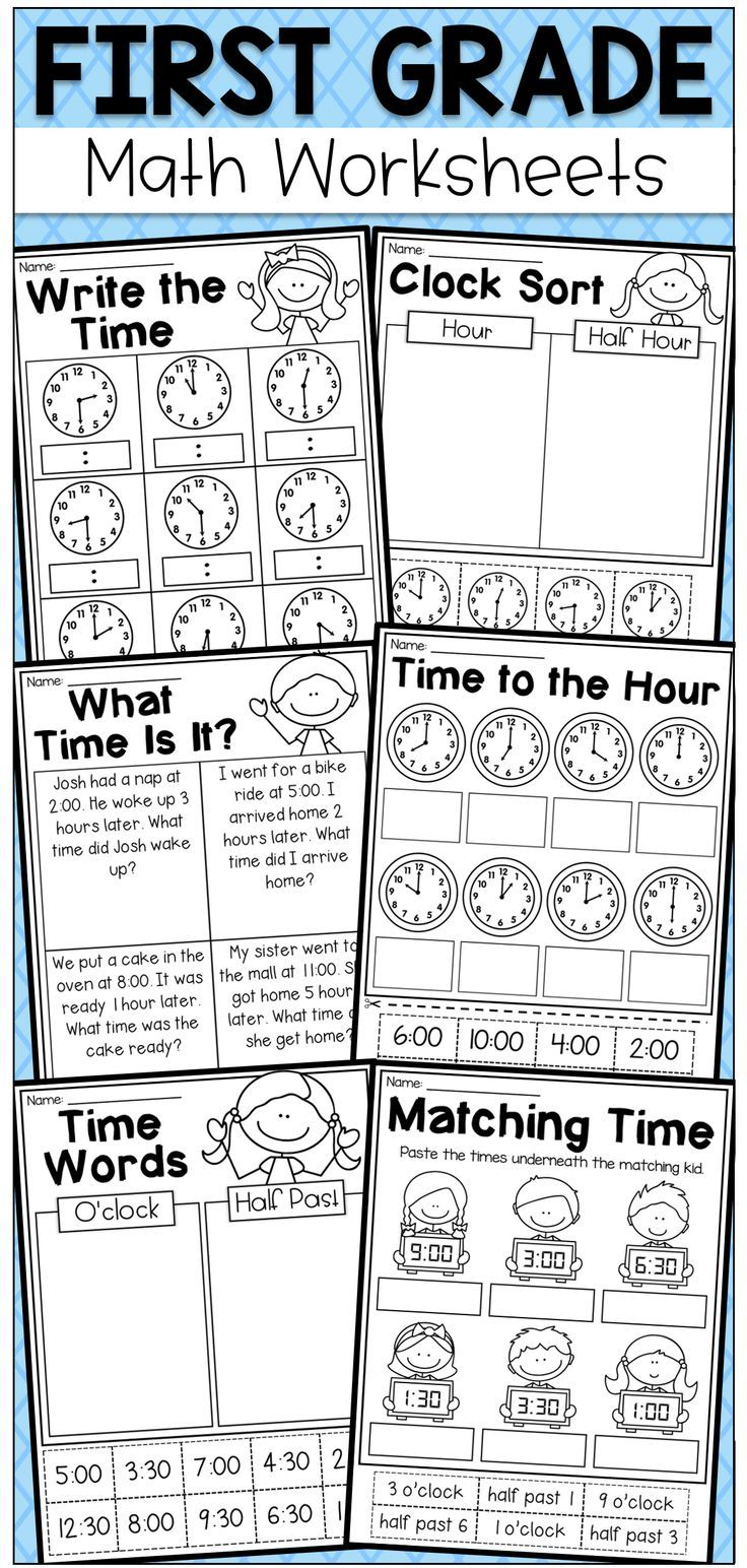 First Grade Time Worksheets Hour Half Hour Quarter Hour Distance Learning Time Worksheets First Grade Math Worksheets First Grade Math