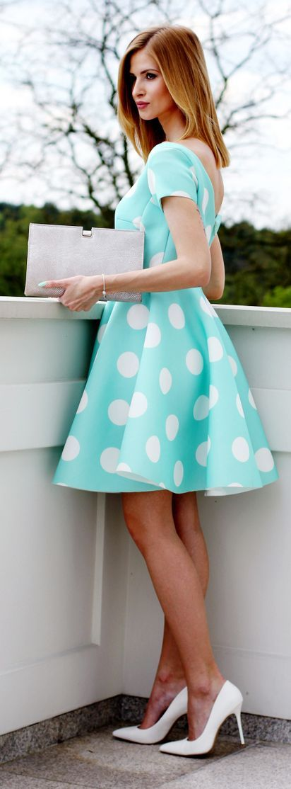 Polka Dot Dress Preppy Style by Beauty - Fashion - Shopping