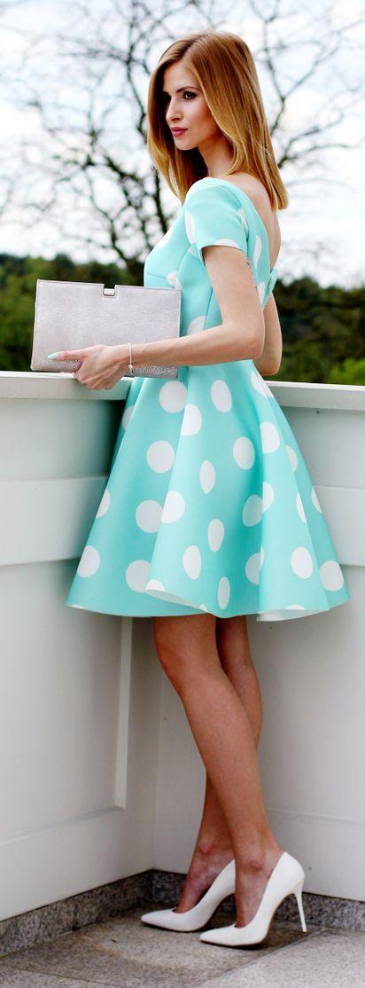 Polka Dot Dress Preppy Style by Beauty - Fashion - Shopping