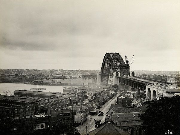Sydney Harbour Bridge, 1931 by State Records NSW, via Flickr