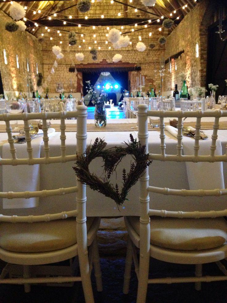 barn wedding venue london%0A Aimee and Luke u    s beautiful barn wedding Monks u     Barn  Hurley  UK  Festoon  canopy