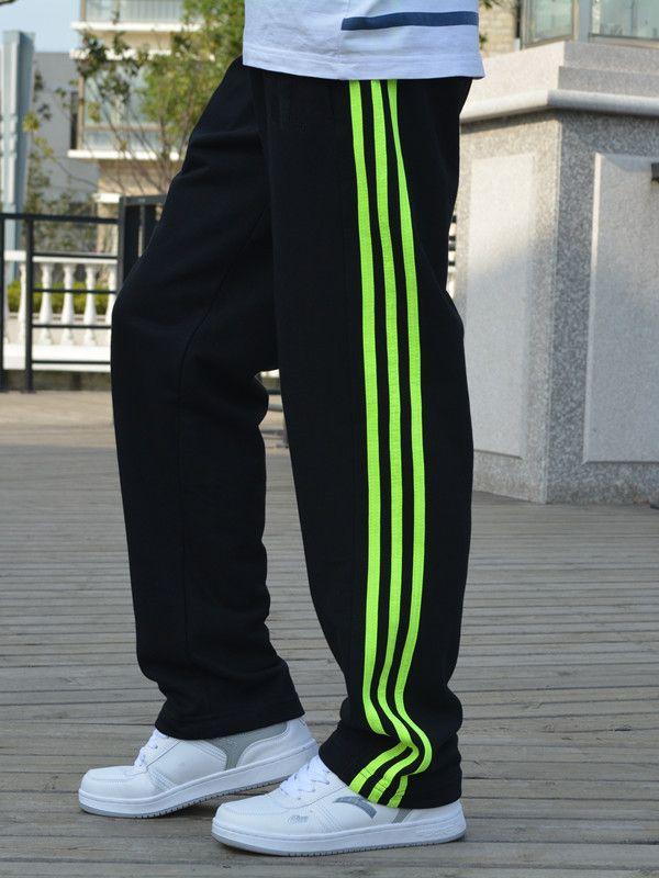 Спортивные брюки длинный мужской брюки мужской хлопок движение брюки мужской большой двор случайный бег прямо вязание брюки - Таобао Украина