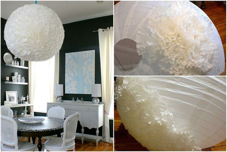 DYI Coffee filter Chandelier/Pendant! : A Girl and A Key